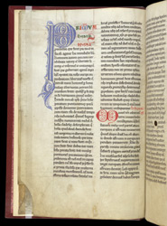 Decorated Initials And Colour-Note, In Paulus Orosius's 'The Seven Books Of History Against The Pagans' f.2v